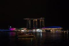 海湾旅馆海滨广场铺沙新加坡 库存图片