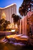 海湾旅馆las曼德勒晚上维加斯视图 图库摄影