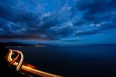 海湾日本晚上suruga 免版税库存图片