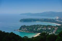 海湾普吉岛顶视图 免版税库存照片