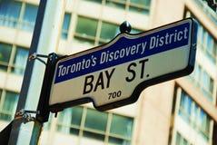 海湾有历史的街道多伦多 免版税库存图片