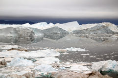 海湾格陵兰冰 免版税库存照片