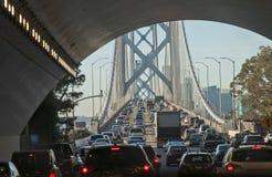 海湾桥梁交通堵塞 免版税库存图片