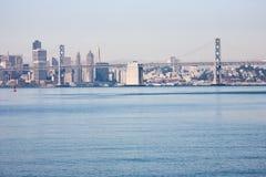 海湾桥梁奥克兰 免版税库存图片