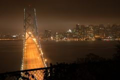 海湾桥梁弗朗西斯科・圣 免版税图库摄影