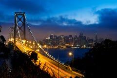 海湾桥梁弗朗西斯科・圣 图库摄影