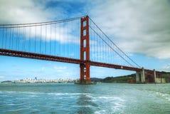 海湾桥梁弗朗西斯科给金黄圣装门 免版税库存照片