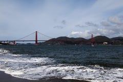 海湾桥梁弗朗西斯科门金黄圣 库存照片