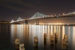 海湾桥梁旧金山 库存照片