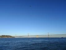 海湾桥梁的旧金山边 图库摄影