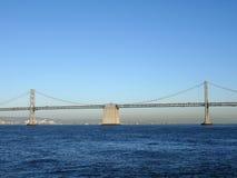 海湾桥梁的旧金山边 库存照片