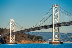 海湾桥梁,旧金山,加利福尼亚,美国。 免版税库存图片