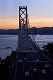 海湾桥梁-金银岛,旧金山 库存图片