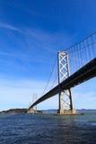 海湾桥梁 免版税库存照片