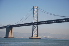 海湾桥梁 免版税图库摄影