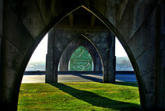 海湾桥梁yaquina 库存图片