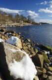 海湾横向海运春天垂直 图库摄影