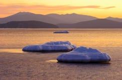 海湾横向vladimir冬天 免版税库存图片