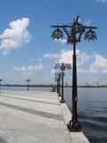 海湾河Dniepr 免版税库存图片