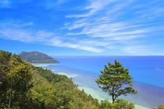 海湾泰国的顶视图 图库摄影
