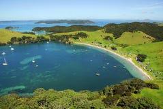 海湾海岛海岛新的urapukapuka西兰 免版税库存照片