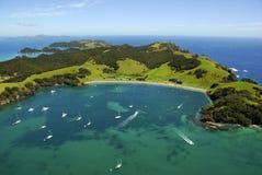 海湾海岛海岛新的urapukapuka西兰 免版税库存图片