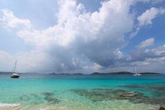 海湾海岛solomon我们处女 免版税图库摄影