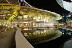 海湾海滨广场商店 免版税库存照片