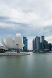 海湾海滨广场新加坡江边 图库摄影