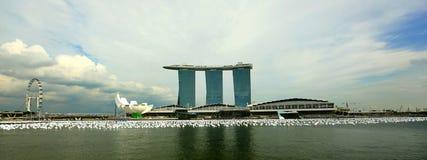 海湾海滨广场铺沙新加坡 免版税图库摄影