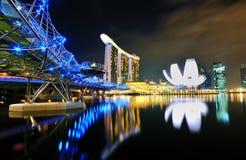 海湾海滨广场scenics都市的新加坡 库存图片
