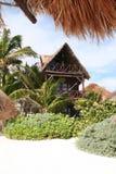 海湾海滩坎昆墨西哥手段tulum 免版税库存照片