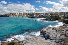 海湾海滩bronte悉尼 免版税图库摄影