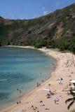 海湾海滩hanauma 免版税库存图片