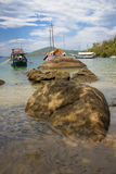 海湾海滩paraty热带 免版税库存图片