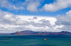 海湾海运台风 库存照片