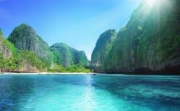 海湾海滩玛雅人泰国 免版税图库摄影