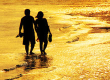 海湾的恋人 库存图片