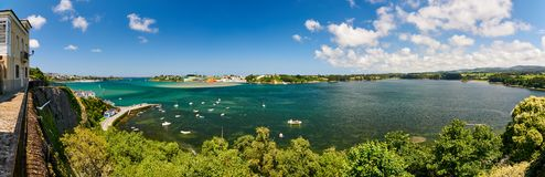 海湾的看法从卡斯特罗波尔的 免版税库存图片