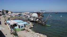 海湾的看法在市阿纳帕,克拉斯诺达尔地区,俄罗斯 股票视频