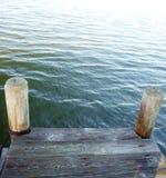 海湾的码头 免版税库存图片
