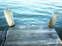 海湾的码头 免版税图库摄影