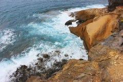 海湾的美好的顶视图 免版税库存照片