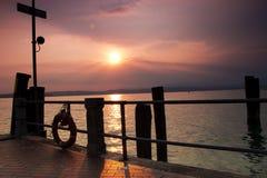 海湾的船坞 库存照片