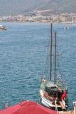 海湾的视图 免版税库存照片