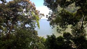 海湾的视图 免版税图库摄影