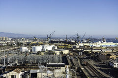 海湾的造船厂在圣地亚哥,加利福尼亚 库存照片