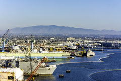 海湾的造船厂在圣地亚哥,加利福尼亚 免版税库存图片