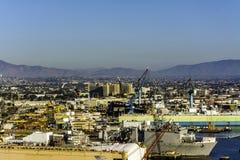 海湾的造船厂在圣地亚哥,加利福尼亚 库存图片