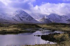 海湾的Tulla苏格兰绵延山 库存照片